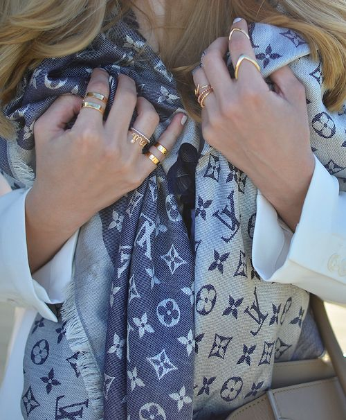 Louis Vuitton Denim Shawl Scarf http://ca.louisvuitton.com/eng-ca/products/monogram-denim-shawl-001310#M71376