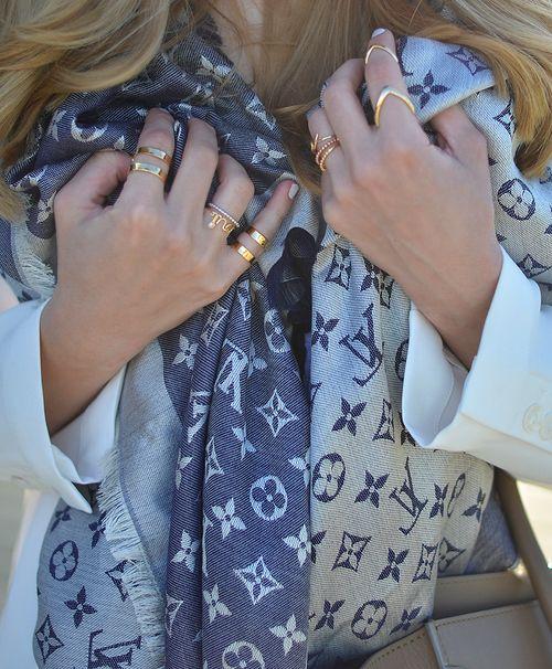 Louis Vuitton Denim Shawl Scarf http://ca.louisvuitton.com/eng-ca/products/monogram-denim-shawl-001310#M71376