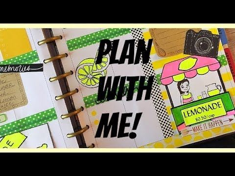 PLAN WITH ME Design Group! LEMONADE STAND LAYOUT! July 24-30 2017 Big Happy Planner - YouTube