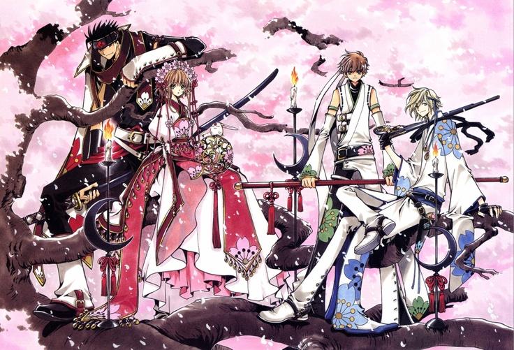 Kurogane & Sakura & Mokona & Syaoran & Fye | Tsubasa Reservoir Chronicle #manga