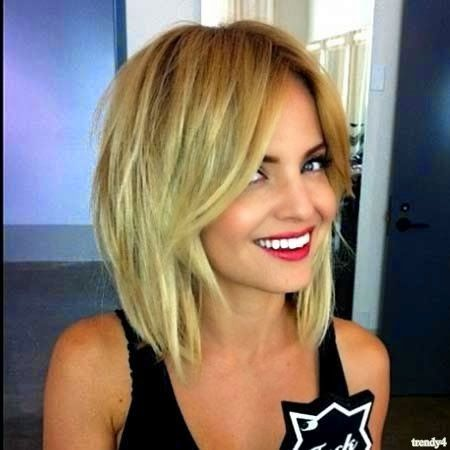 Trendy Straight Blonde Bob for 2015