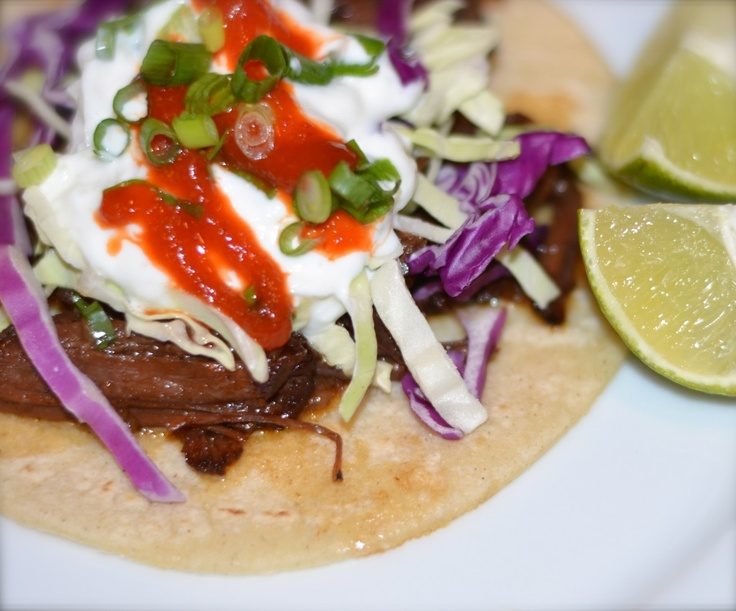 Korean short rib tacos with tzatziki. | Mexican Food | Pinterest