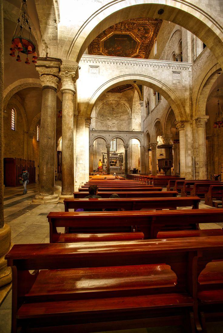 Interior of the famous Basilica di San Nicola in Bari - Italy