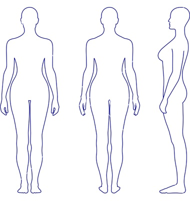 Naked standing woman vector 685215 - by arlatis on VectorStock®
