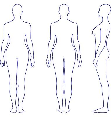 Naked standing woman vector 685215 - by arlatis on VectorStock®