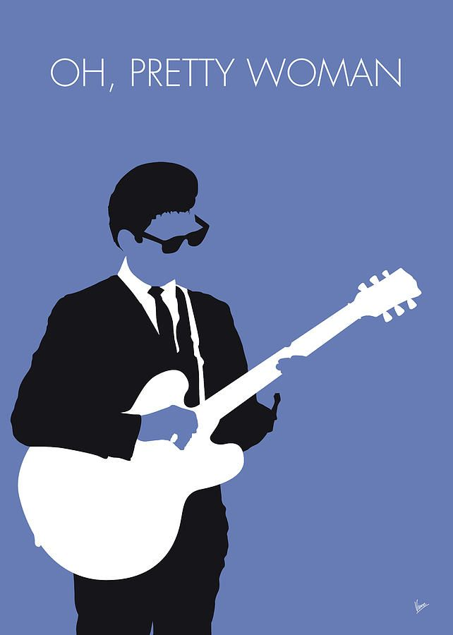No158 MY Roy Orbison Minimal Music poster by Chungkong Art | Music poster design, Music poster, Minimalist poster