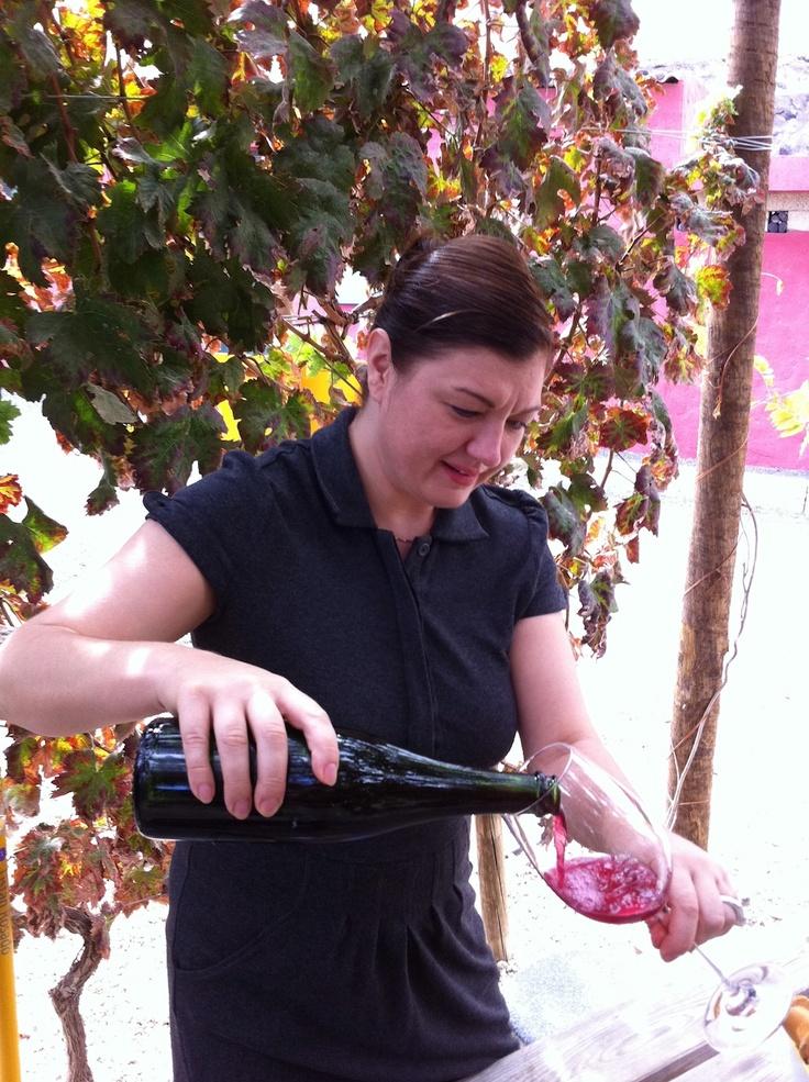 #Rasa #Strankauskaite, probando su #vino Espumoso Rosado #Contiempo