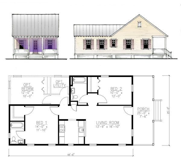 17 best images about shotgun house on pinterest house for Cottages plans designs