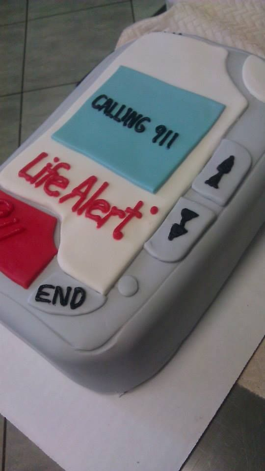 Life Alert/ over the hill cake for 50th birthday