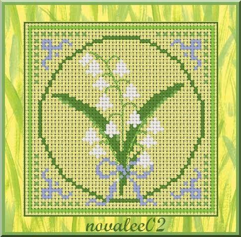 Muguet 2009 - Lily of the Valley - il faut contacter la créatrice par email pour obtenir le diagramme.