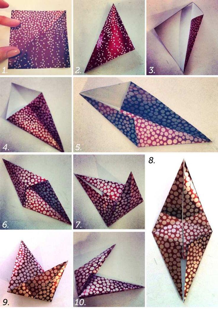 Kreative Idee für 8-zackiger Stern aus Papier zum Selbermachen