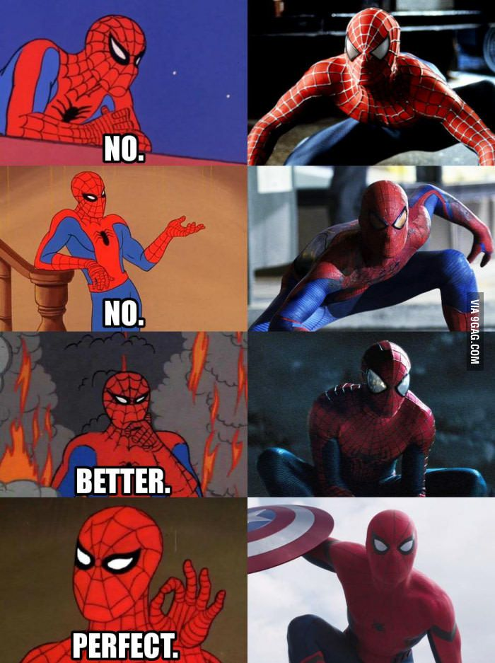 Spiderman costumes Love, love, love the Civil War version!