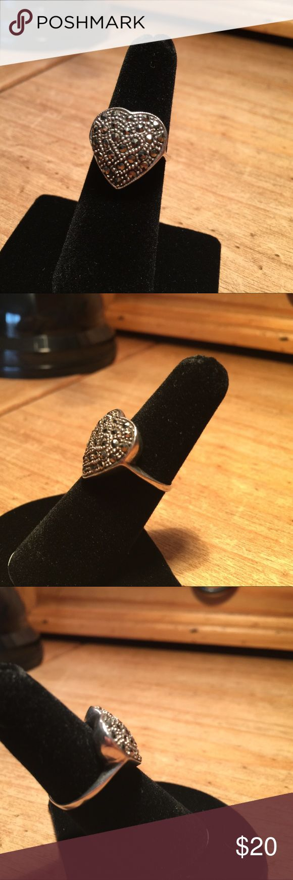 Judith Jack Heart ❤️ Ring Judith Jack Heart ❤️ Ring in Silver & Marcasite, Size 6.5 Beautiful! Judith Jack Jewelry Rings