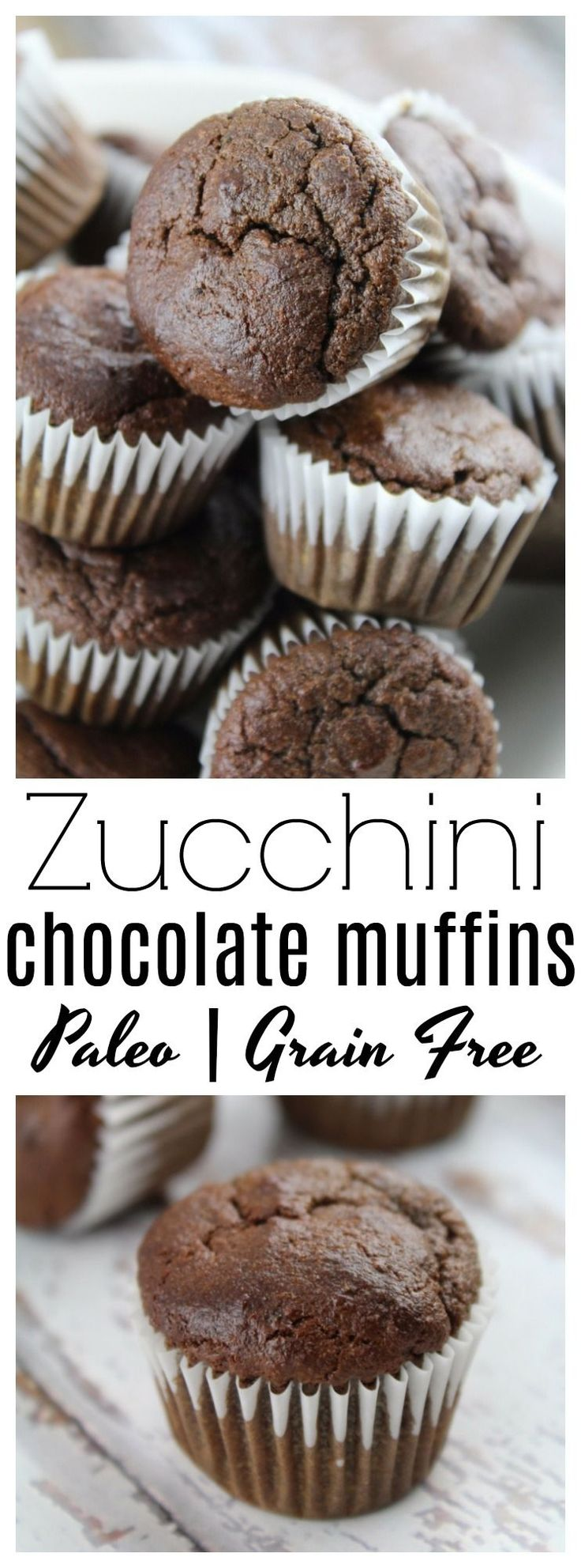 These paleo, grain free chocolate zucchini muffins that make the perfect healthy snack for people of all ages!