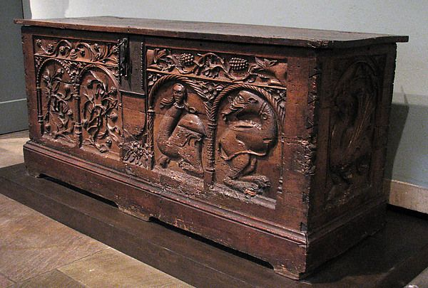 Chest Metropolitan Museum Date: late 15th century Culture: French Medium: Walnut, iron mounts Dimensions: Overall: 30 x 67 x 22 in. (76.2 x 170.2 x 55.9 cm