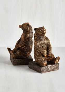 Office & Desk Accessories - A Tale of Two Grizzlies Bookends