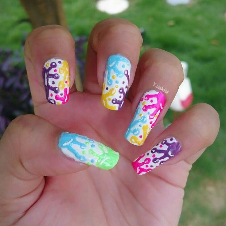 #nail #art #splash #color #paint