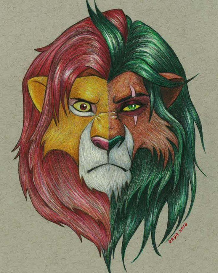 бокам рисунка король лев рисунок цветной память популярного