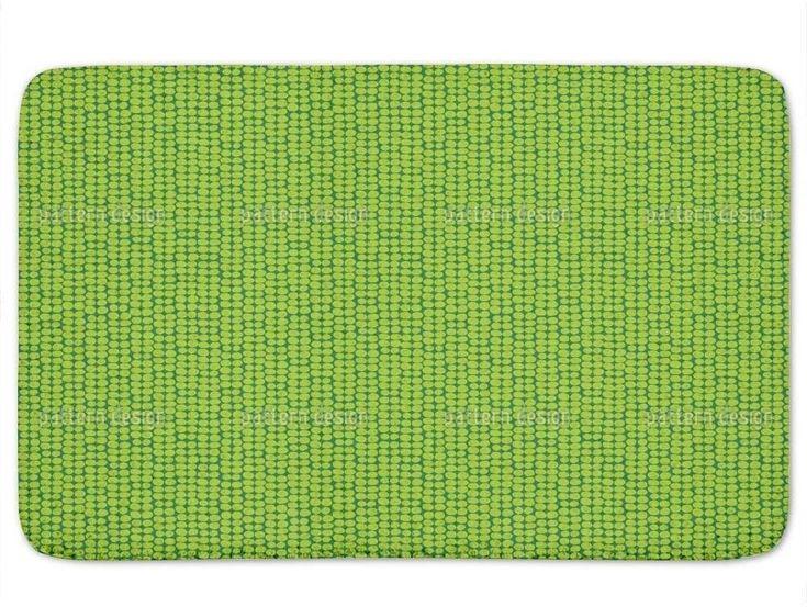 Memory Foam Large Stylish Leaf Green Retro Bath Mat Non Skid Latex 24 x 36 Inch #BathMat #MemoryFoamMat #StylishMat #BathRug #SoftMat #DoorMat #Mat #Rug #SkidResistant #NonSlip #Home #Kitchen #Bathroom #Bath #NonSkid #Retro