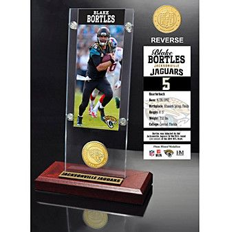 NFL® Jacksonville Jaguars Blake Bortles Ticket & Bronze Coin Ticket Acrylic by The Highland Mint
