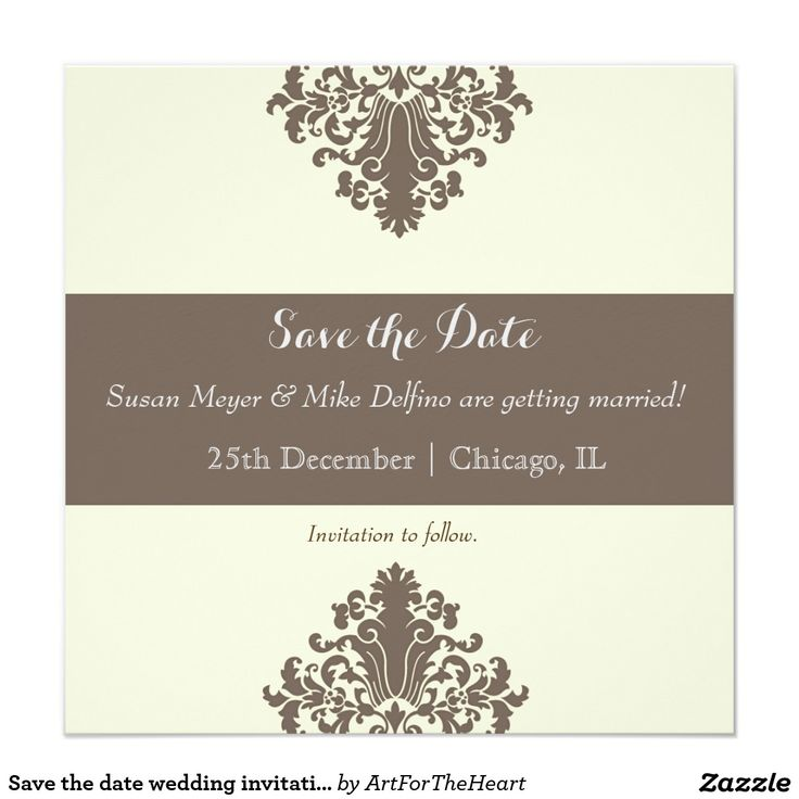 109 best save the date best cards invitations for weddings save the date wedding invitation card damask stopboris Images