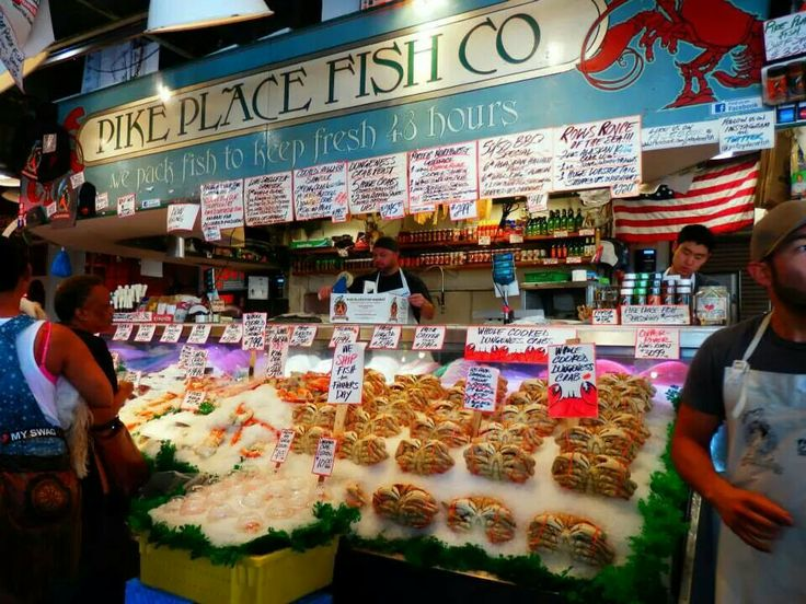 The famous fish market at Pike Place