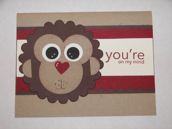 Stampin' UP Monkey Card just a few punches and you can make this cute monkey
