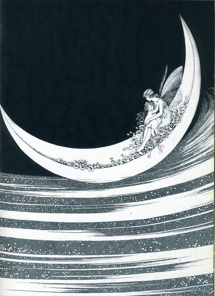 The Moonboat Fairy from Fairyland illustrated by Ida Rentoul Outhwaite (1888 - 1960). Published in 1926.