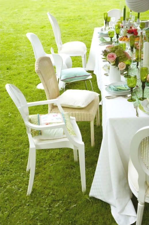 Al Fresco Entertaining Inspiration!: Al Fresco Dining, Gardens Inspiration, Chairs, Entertainment Inspiration, Dining Inspiration, Dining Alfresco, Gardens Parties, Gardens Tables, Diners Blanc