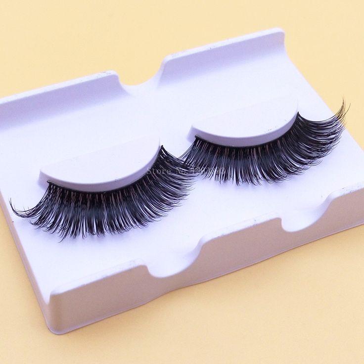 B14 Mink False Eyelashes Mink Thick Cross Long Fake Eyelashes Makeup Tool Natural  Eyelashes