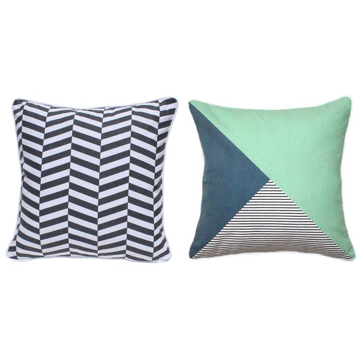 Geo Stripe Charcoal Cushion & Minimalist Cushion Cover Set - Tropical Oasis - T&W Unbranded Events 2015