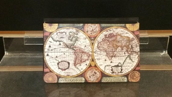 1r Passport Cover  Old World Map Cartography by AlohaCustomCovers