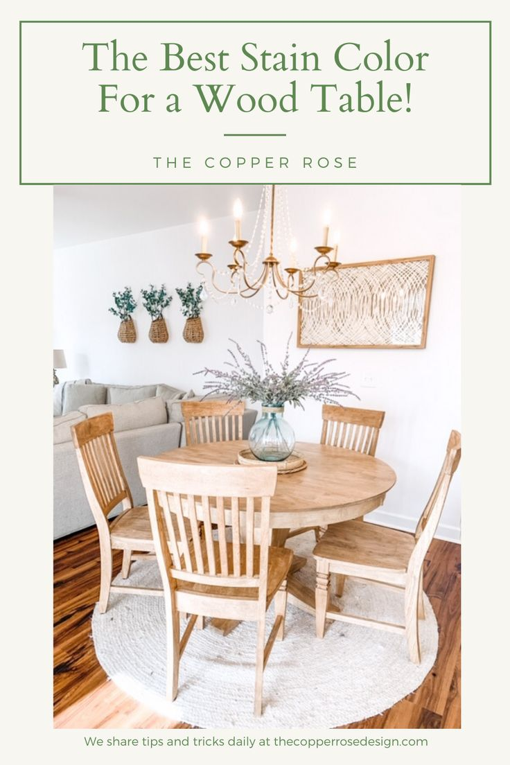 """The Best Kitchen Table Stain Color """"DIY"""" - The Copper Rose ..."""