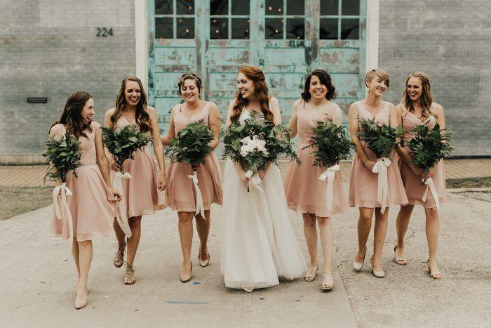 Lush Industrial Austin Wedding At The Union On Eighth Bridesmaid