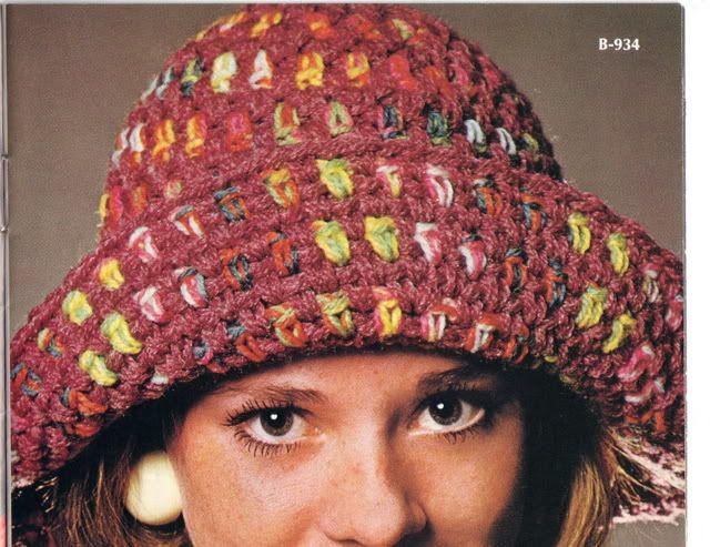 Vintage Crochet Floppy Brim Hat Crochet Hooks Crochet