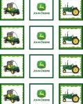 John Deere - printables; labels for gift bags and coloring pages