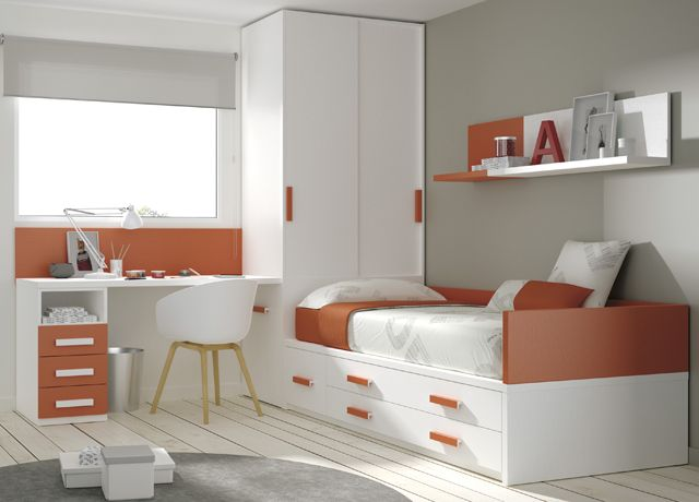 M s de 1000 ideas sobre dormitorios de adolescentes for Habitaciones compactas