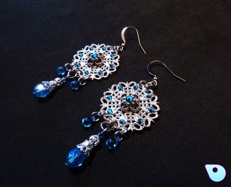Mandala Earrings Mothers Day Gift Prom Jewelry Mandala Jewelry Filigree Earrings Wiccan Jewelry Boho Pagan jewelry Vintage Earrings (22.95 CAD) by CervelleDoiseau