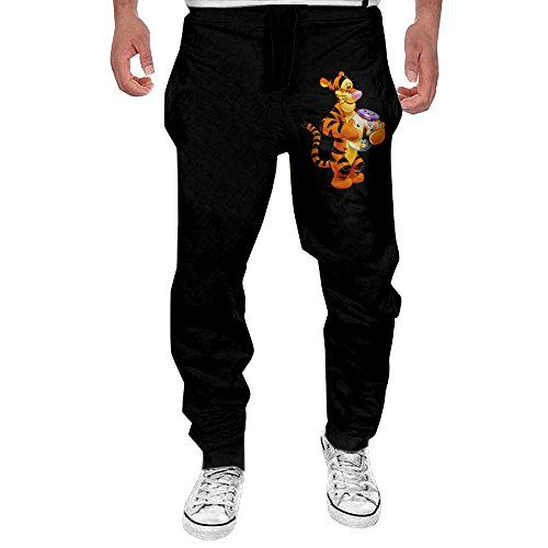 Monster Men's Transparent Tigger The Cartoon Show Sweatpants XXL Black *** See this great product.