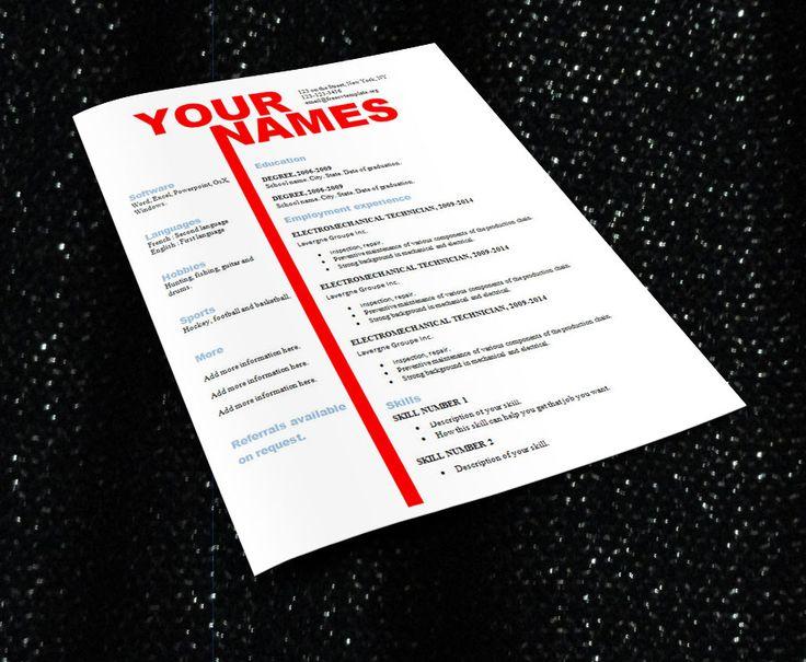 Best 25+ Free cv template ideas on Pinterest Cv design template - cv template download