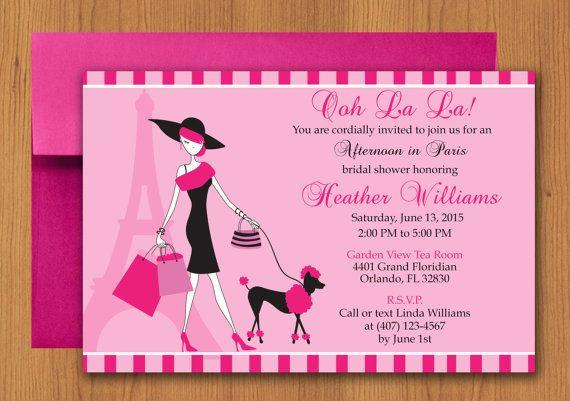 lady paris party invitation
