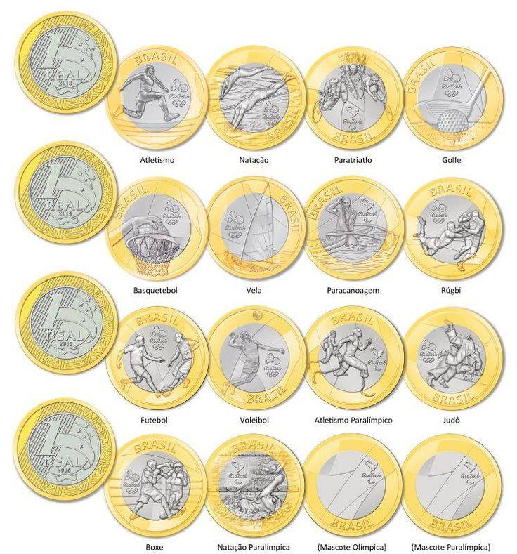 Veja como serão as moedas comemorativas dos Jogos Olímpicos e Paralímpicos Rio…