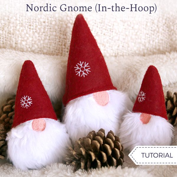 Nordic Gnome In The Hoop Machine Embroidery Christmas