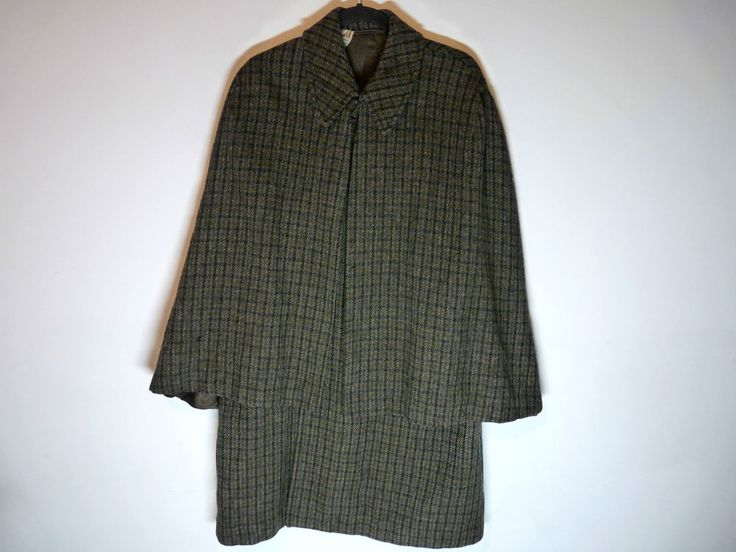 Authentic Vintage Harris Tweed Inverness Cape Sherlock