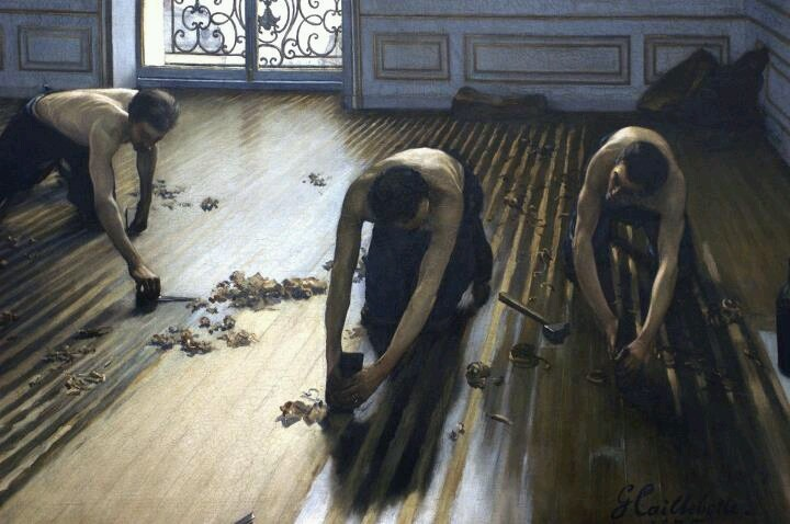 Caillebotte. This is my favorite piece of art. ever. Literally brought me to tears at the High