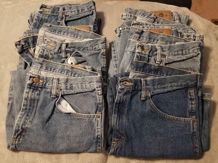 Men's Wranglers Jeans Lot (6 Pair) Size 34x29 #Wrangler #Jeans