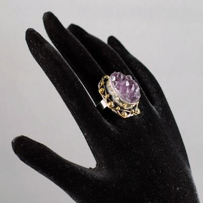Ottoman Style Rough Crystal Amethyst 925K Sterling by jewelstanbul, $59.00Rough Crystals, Amethysts 925K, Ottoman Style, Crystals Amethysts, 925K Sterling, Style Rough