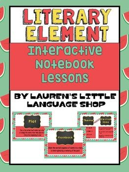 This product includes: -5 Days of Interactive Notebook Inspired lesson plans. -All Literary Element lesson materials -A 5 Day long teaching PDF Presentation -A Review Board Game, Rules, and Questions -2 Quick Quizzes and Keys You can also just use these as worksheets if you don't do interactive notebooks.