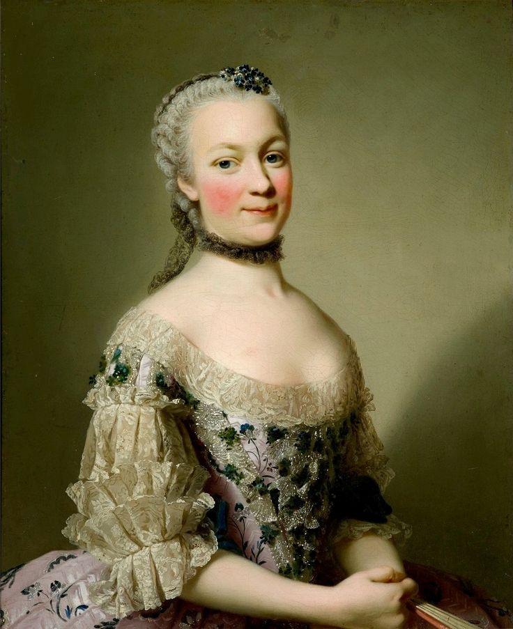 Portrait of Katarzyna Mniszech née Zamoyska by Alexander Roslin, ca. 1752 (PD-art/old), Zamek Królewski w Warszawie (ZKW)