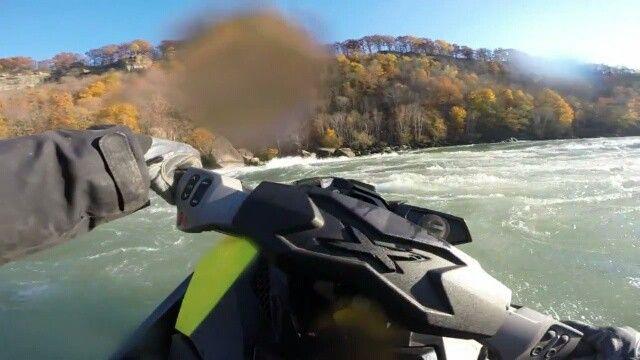 "Crossing the ""easy"" section of the class 5 rapids located at the bottom of the Niagara Falls  #TorontoPWC #toronto #lakeontario #seadoo #jetski #pwc #watercraft #rxpx260 #gopro #hero4 #sandmarc #waverunner #kawasaki #yamaha #canada #yourstodiscover #toursandrentals by torontopwc"